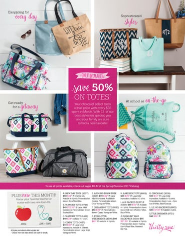 Thirty-One March Monthly Specials 2017 by Veronica s Life Simplified ... 72a661a81