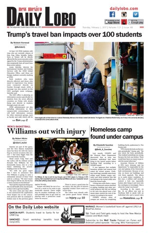 e70813325935 NM Daily Lobo 02 02 17 by UNM Student Publications - issuu