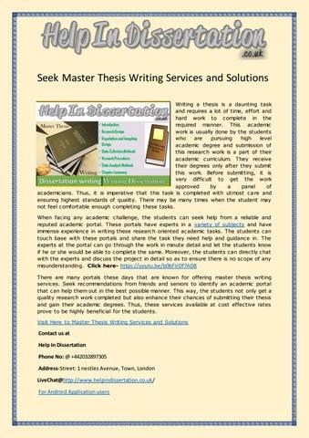 master dissertation