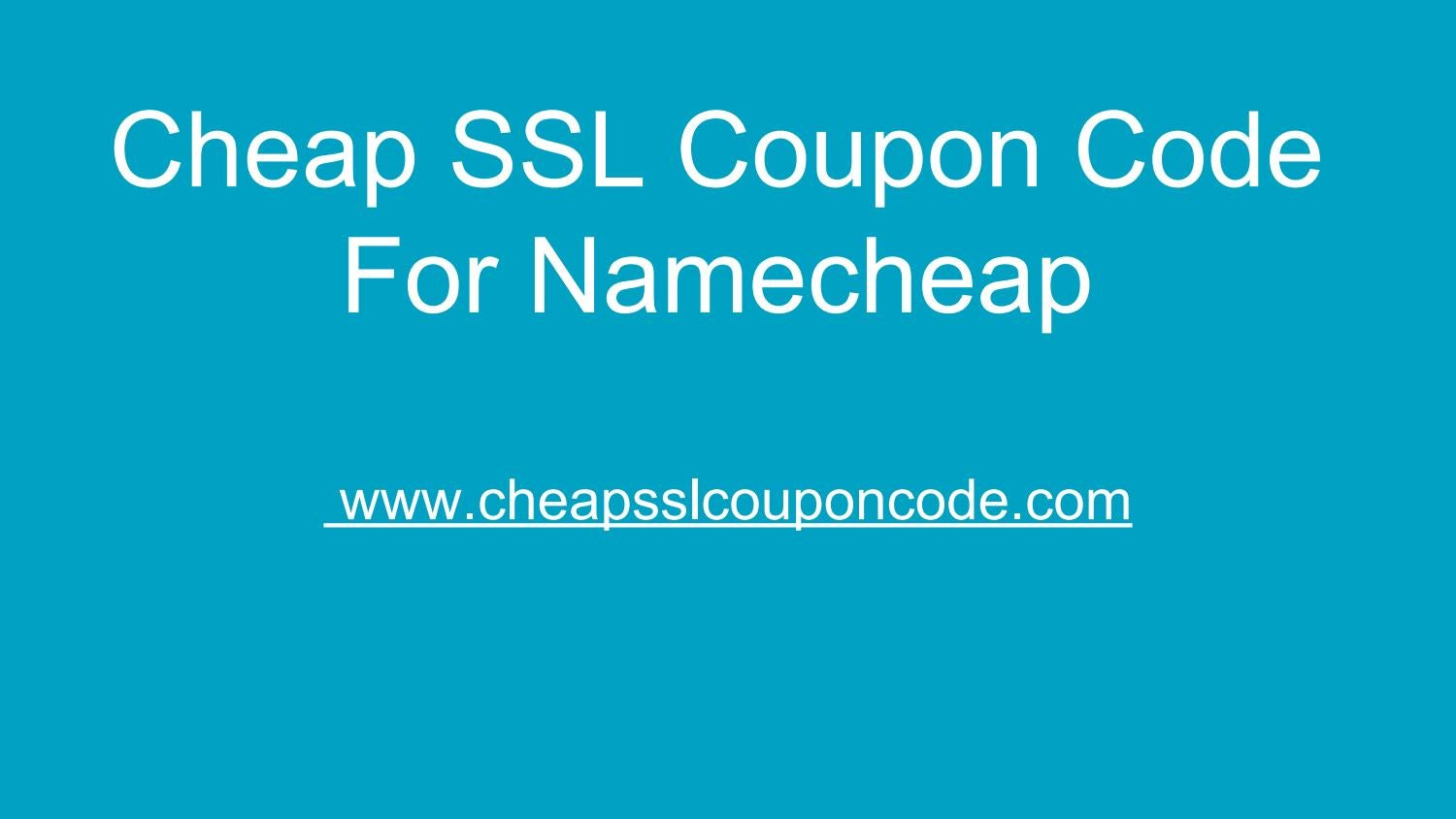Cheap Ssl Coupon Code For Namecheap By Cheap Ssl Coupon Code Issuu