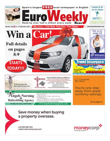 Euro weekly news mallorca 2 8 february 2017 issue 1648 by euro page 1 fandeluxe Gallery