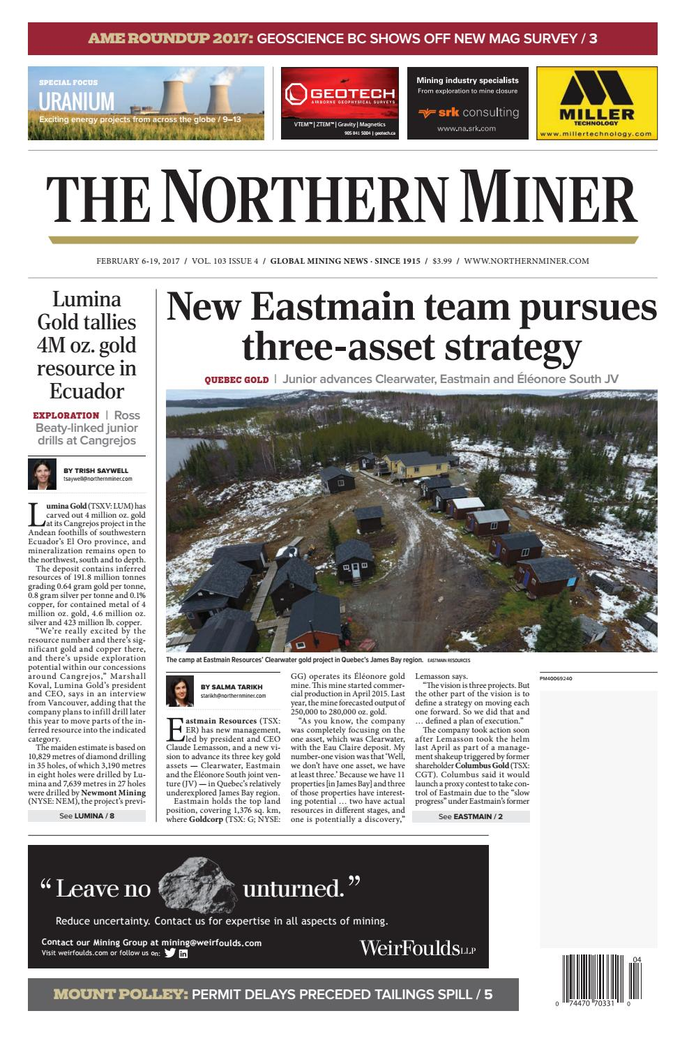 The Northern Miner February 6 2017 Issue by The Northern Miner Group ...