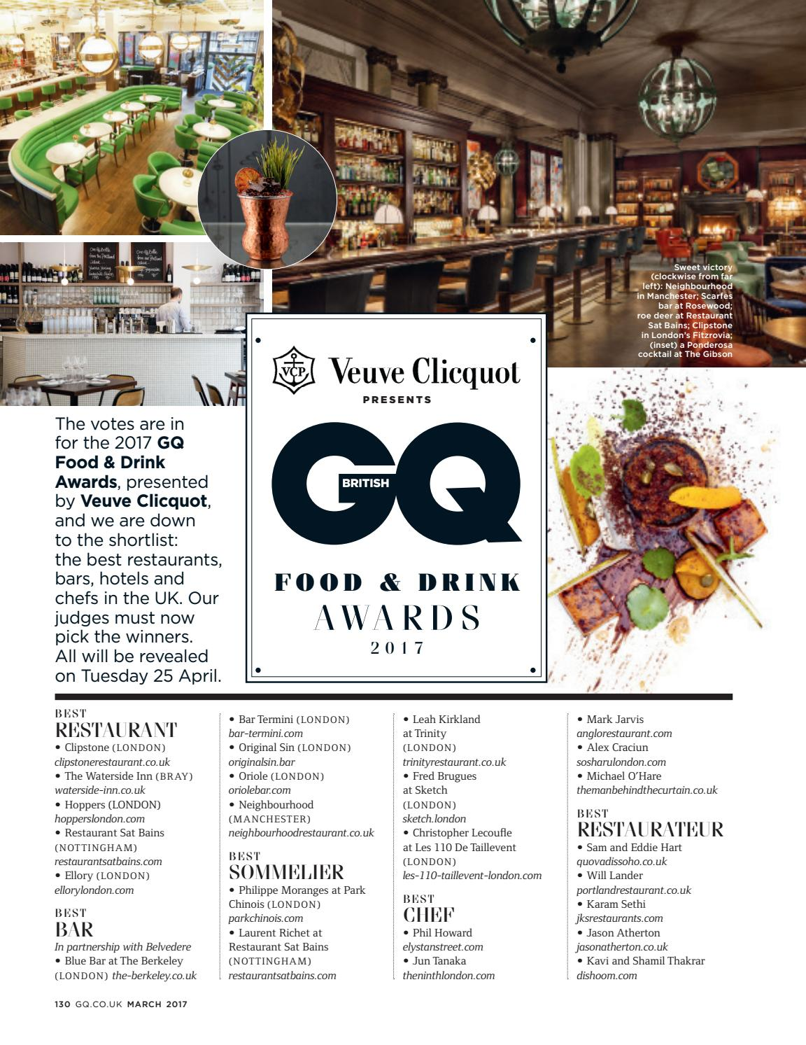 GQ Food & drink awards by Paulo deTarso - issuu