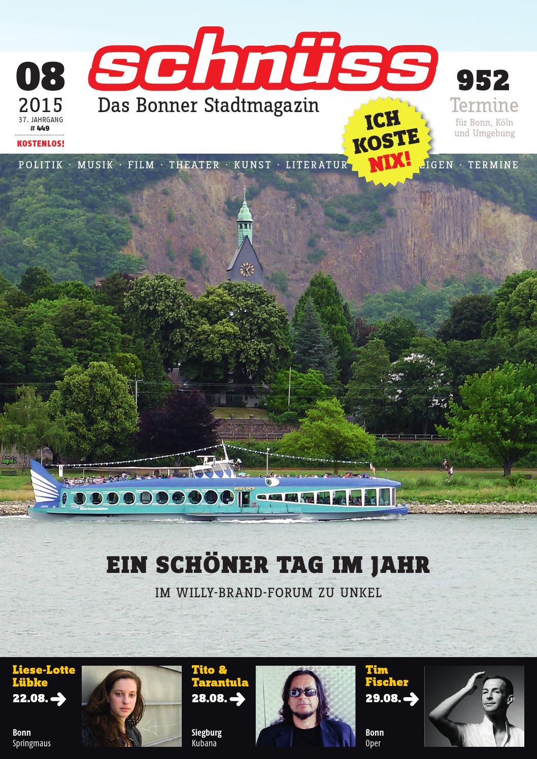 Schnüss 2015/08 by Schnüss - Das Bonner Stadtmagazin - issuu