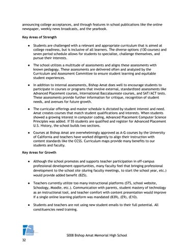 Bishop Amat Self Study Report Ensuring Educational Excellence by ...