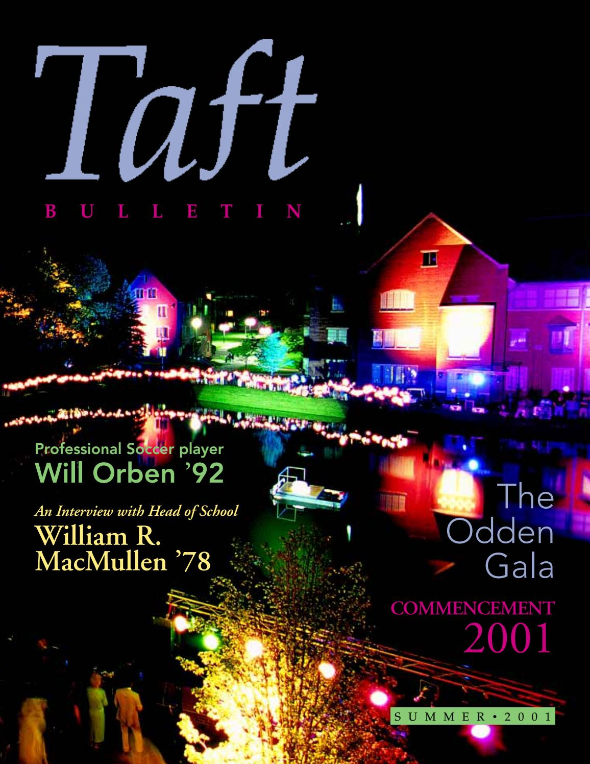 Summer 2001 Taft Bulletin