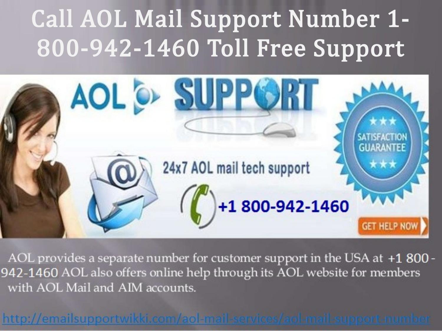 call aol mail support number 1-800-942-1460 toll free support by