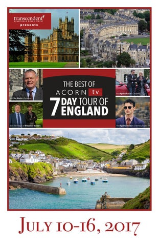 The Best of Acorn TV: 7-Day Tour of England by Transcendent