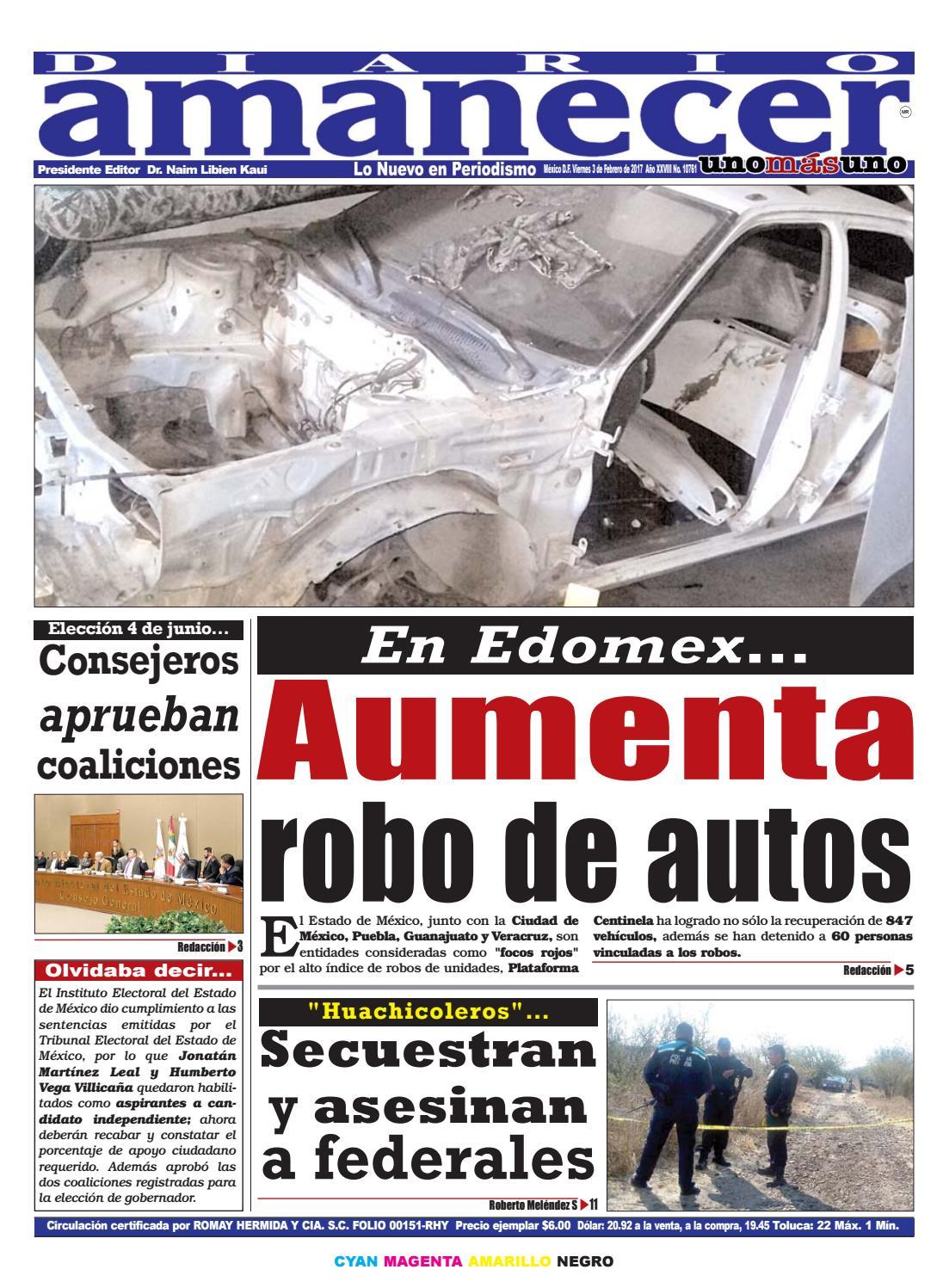 Febrero 3 de 2017 by Diario Amanecer - issuu