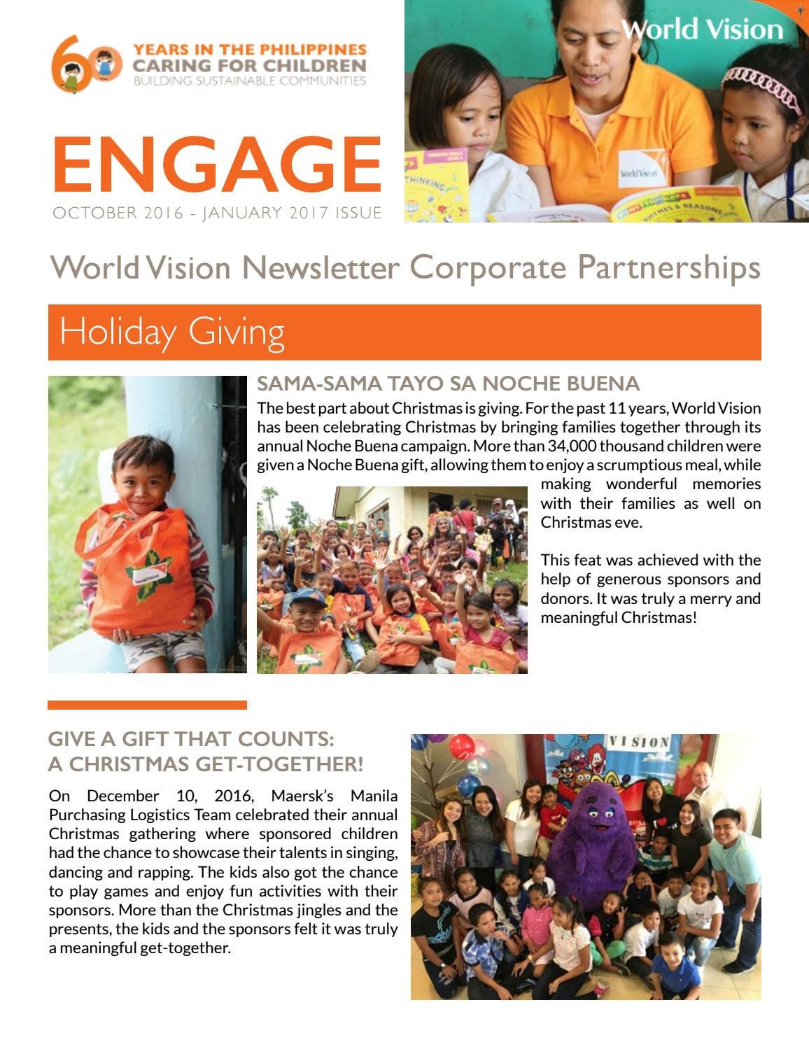 World Vision Engage Corporate Newsletter | October 2016 - January ...