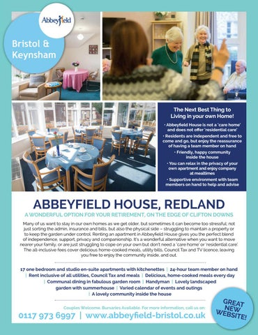 The Next Best Thing To Living In Your Own Home Abbeyfield House Is Not A Care And Does Offer Residential Residents Are Independent
