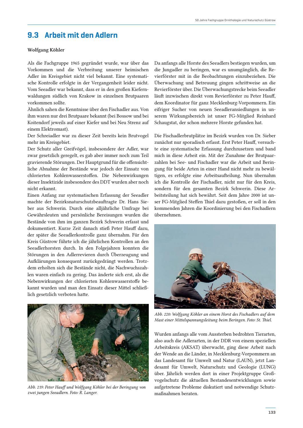 Aus der 50-jährigen Geschichte der Fachgruppe Ornithologie und Naturschutz  Güstrow by Geozon Science Media - issuu