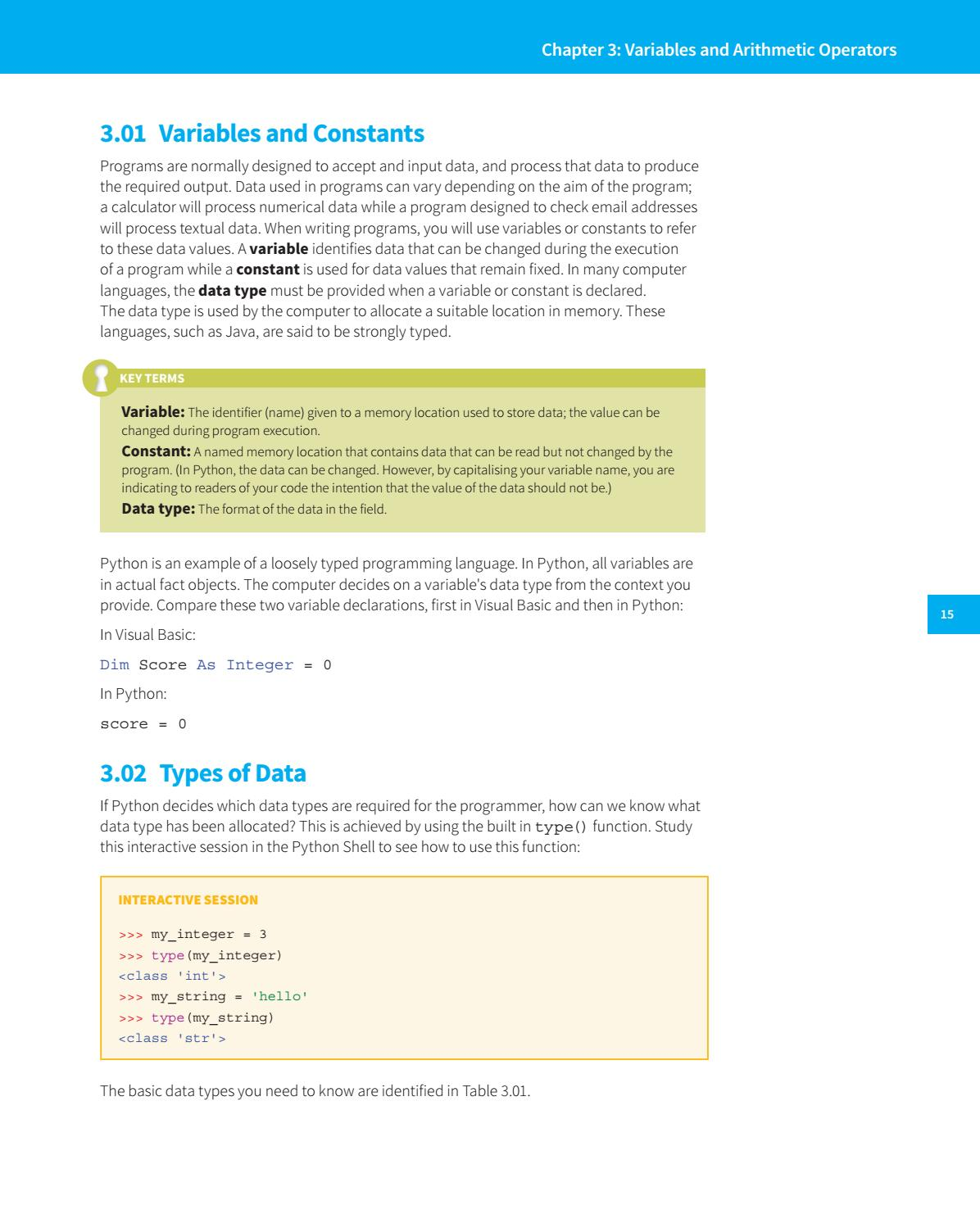 Preview Cambridge IGCSE Computer Science Programming Book for Python