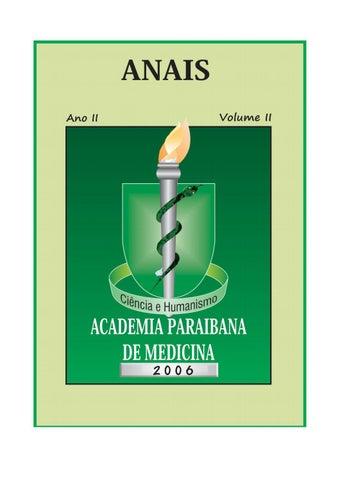 ANAIS Apresentação Dando continuidade a publicação dos anais da Academia  Paraibana de Medicina 05ba702475efc