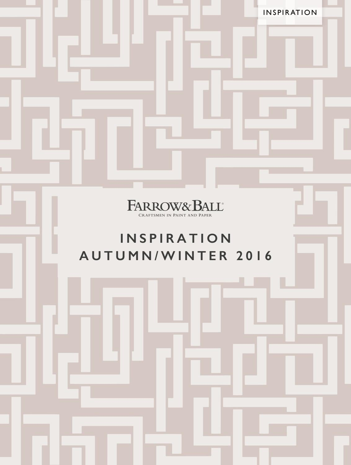 Farrow & Ball - Inspirations 2016 by Brewers - issuu