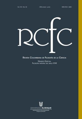 Revista Colombiana De Filosofa De La Ciencia Rcfc By Universidad