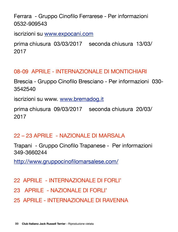 Expocani Calendario.Club Italiano Jack Russell Terrier N 10 2017 By Club