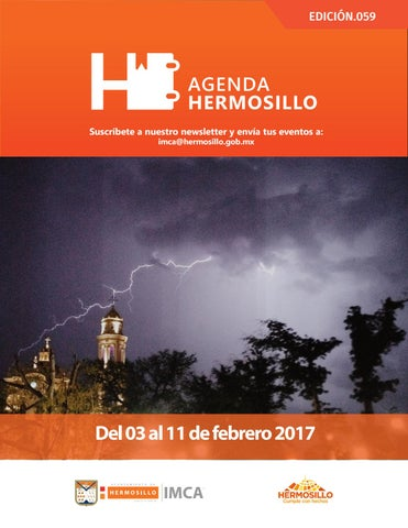 "Cover of ""Agenda Hermosillo 03 febrero 2017"""