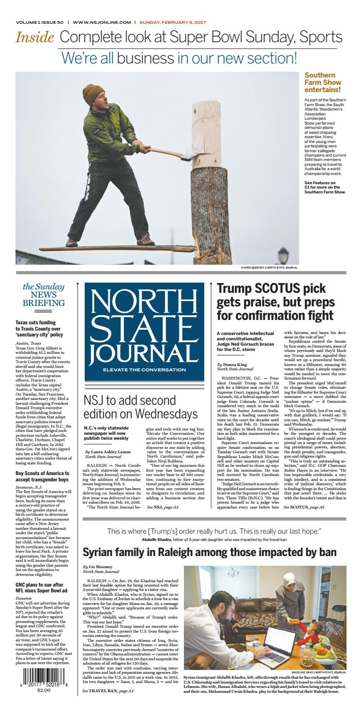 North State Journal — Vol  1 , Issue 50 by North State