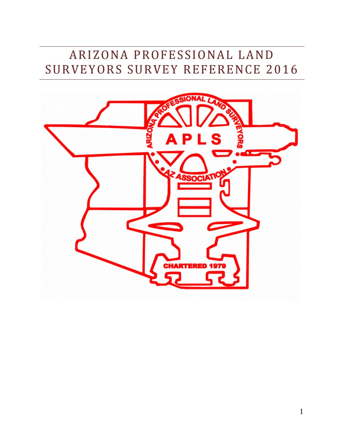 APLS Survey Reference Manual by Tom Liuzzo - issuu