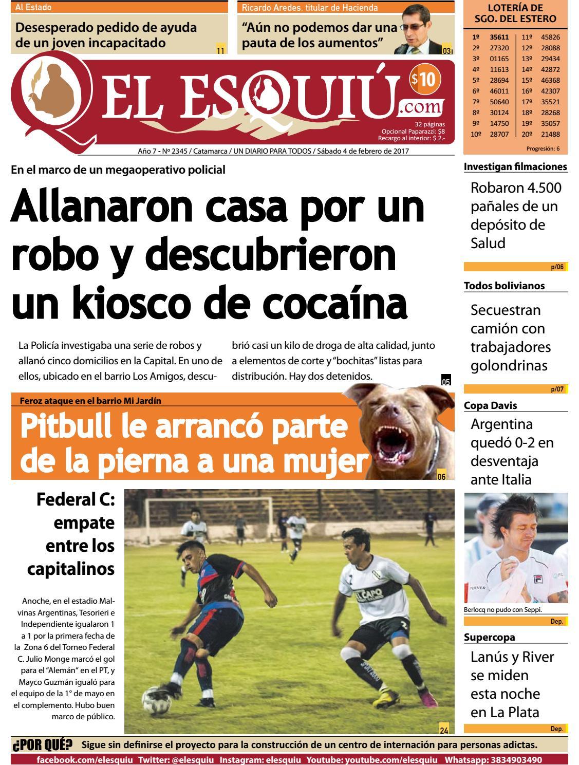 El Esquiu Com S Bado 4 De Febrero De 2017 By Editorial El Esqui  # Muebles Yoma Antofagasta
