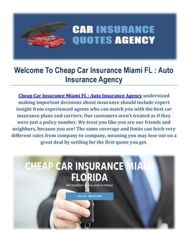 Cheap Car Insurance Agency In Miami Fl By Cheap Car Insurance Miami