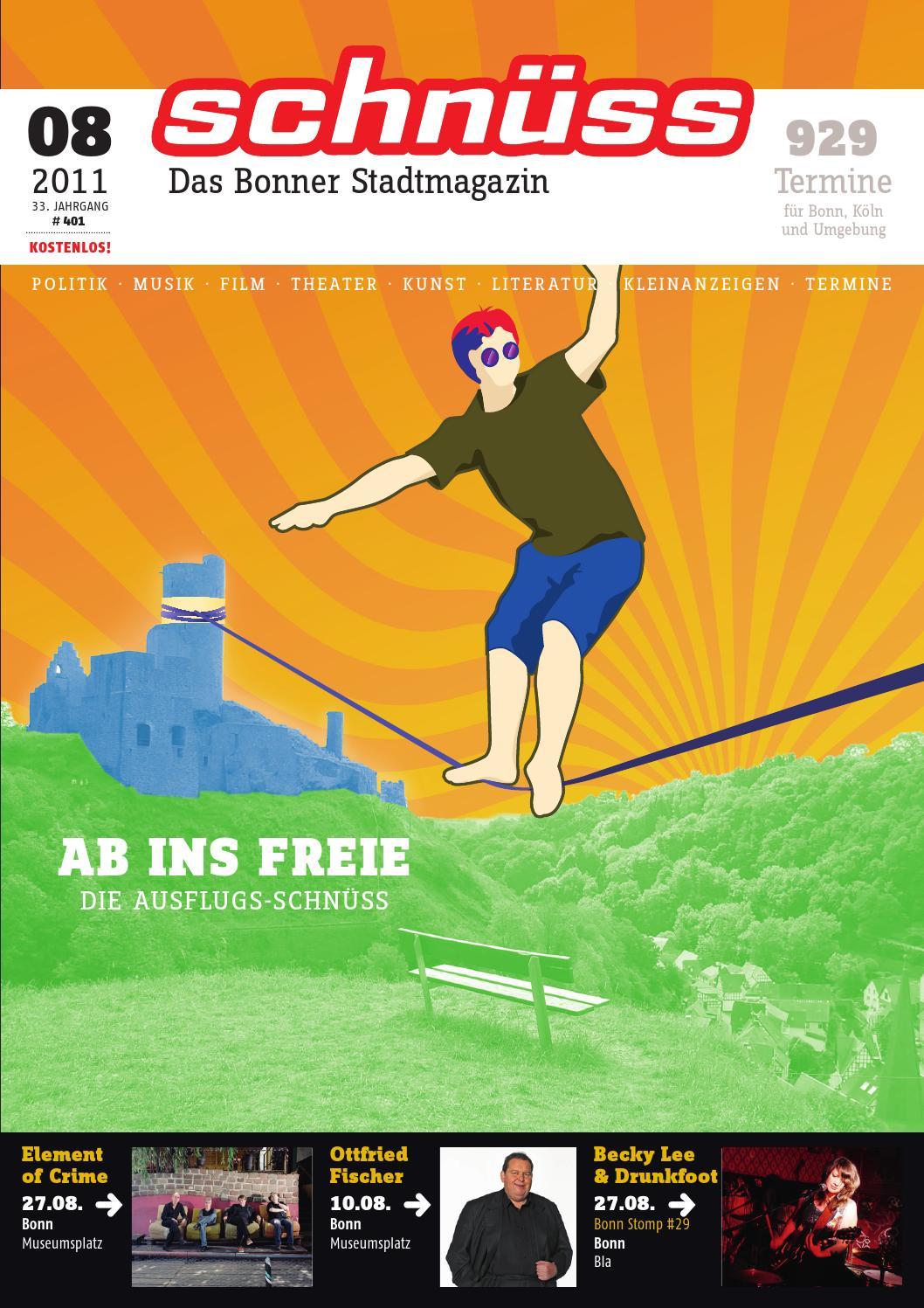 Schnüss 2011 08 By Schnüss Das Bonner Stadtmagazin Issuu