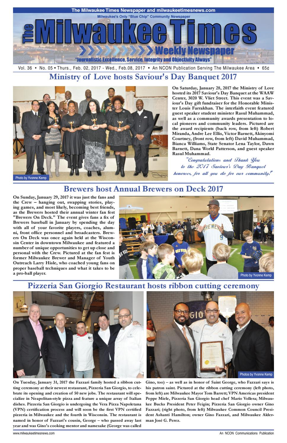 Miltimes 02 02 17 issue 16 pgs by milwaukee times news issuu aiddatafo Image collections