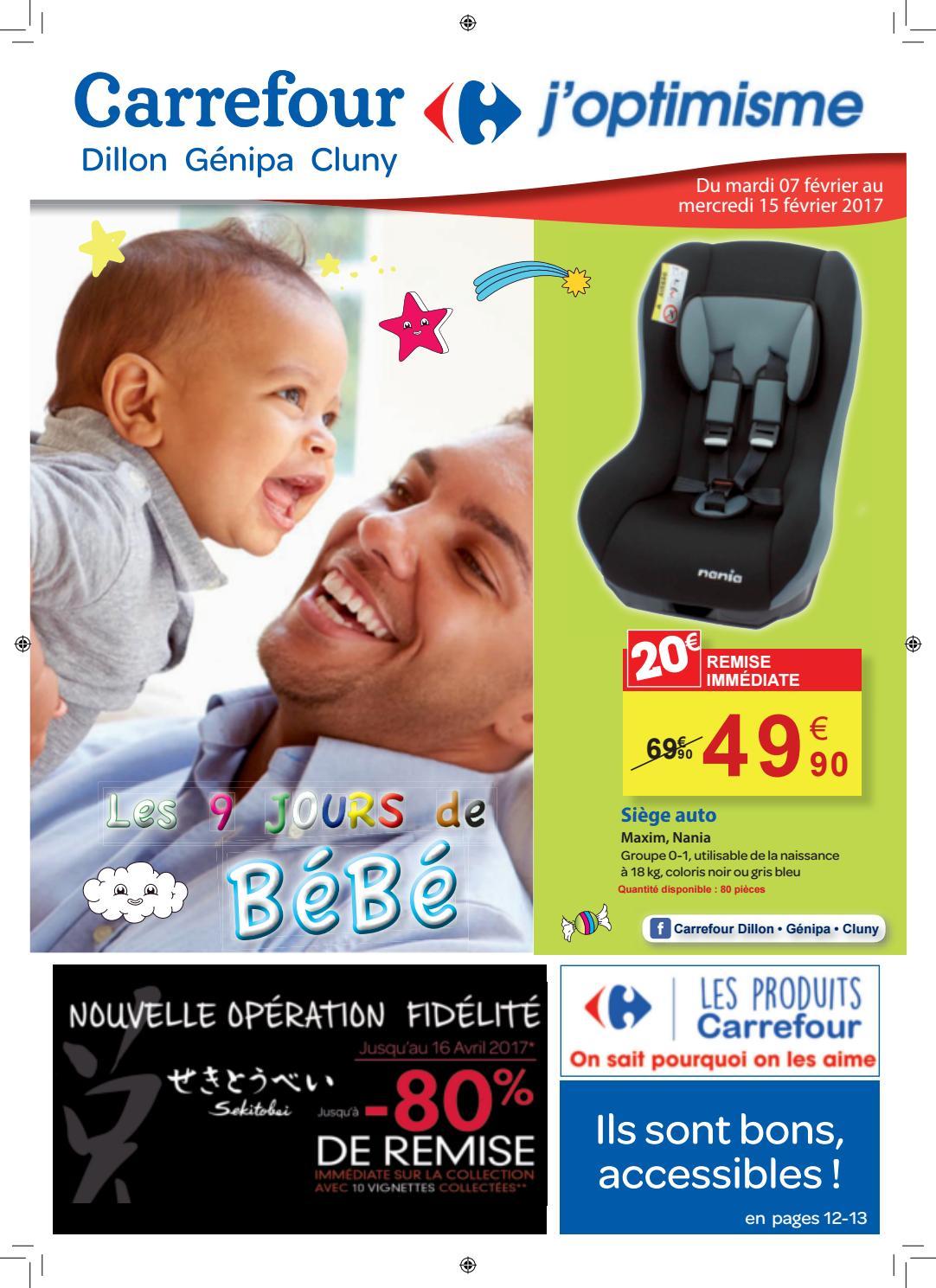 Carrefour Les 9 Jours Bebe Du 07 Au 15 Février 2017