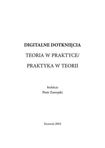 Piotr Zawojski Red Digitalne Dotknięciateoria W Praktyce