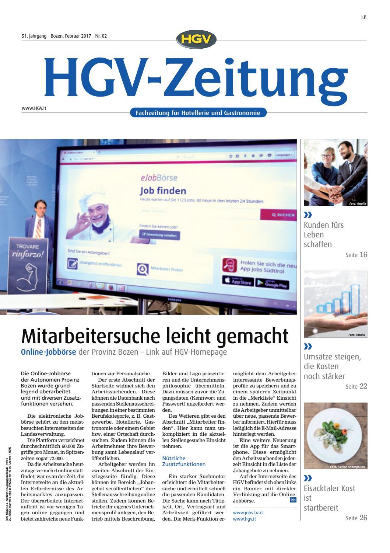 Februar-Ausgabe der HGV-Zeitung by HGV-Service Genossenschaft - issuu