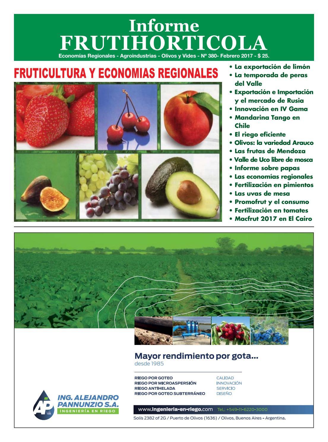 Informe Frutihorticola Febrero 2017 by Horticultura & Poscosecha - issuu