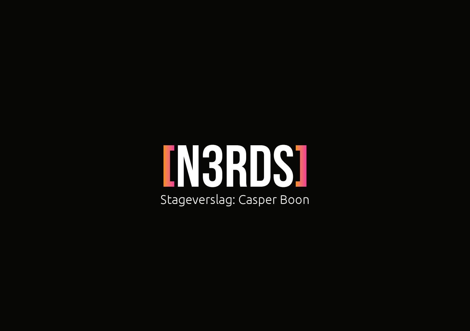 Stageverslag Leerjaar 2 by Casper Boon   issuu