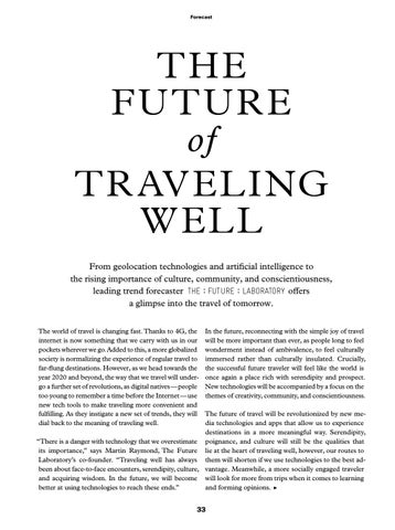 Page 35 of The Future of Traveling Well