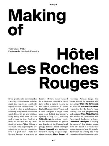 Page 44 of Making of H\u00F4tel Les Roches Rouges