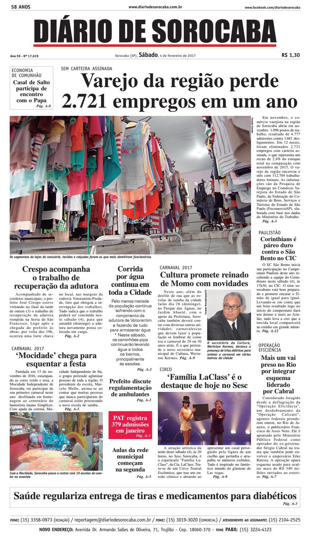 b6a2f5883 Edição 04 de fevereiro de 2017 by DIÁRIO DE SOROCABA - issuu