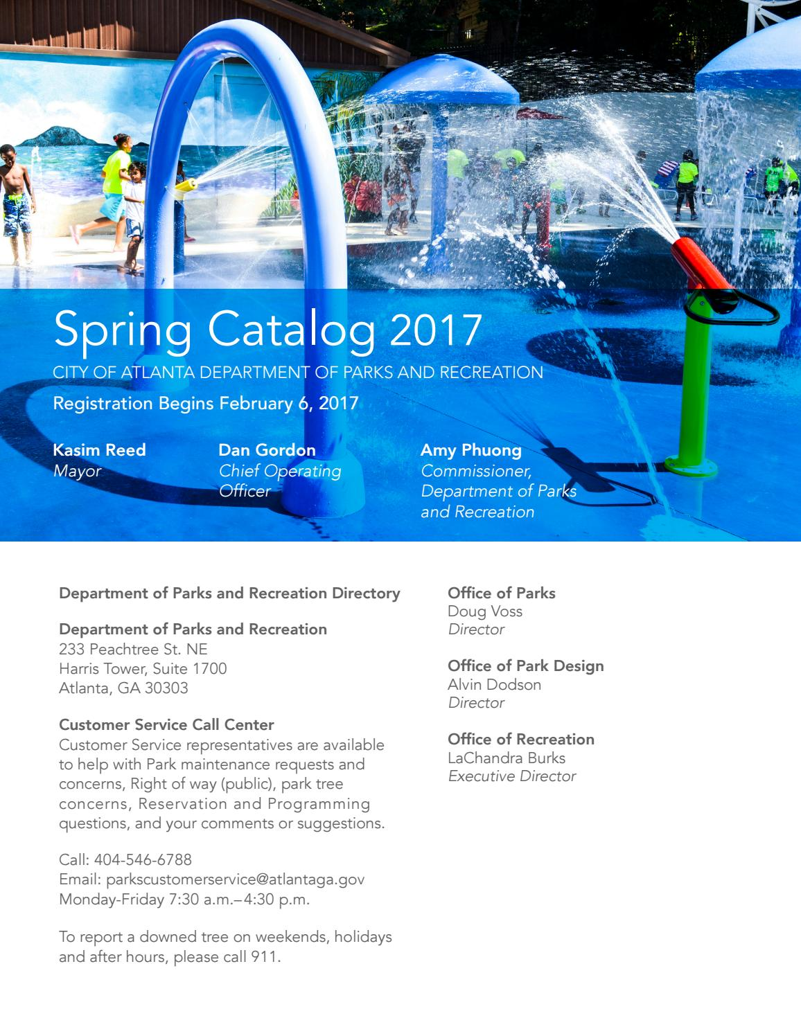 ATL Parks & Rec Spring 2017 Catolog by Atlanta DPR - issuu
