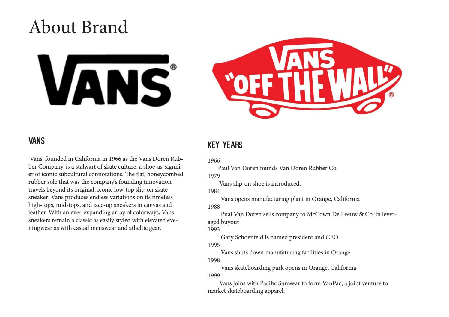 swot analysis of vans