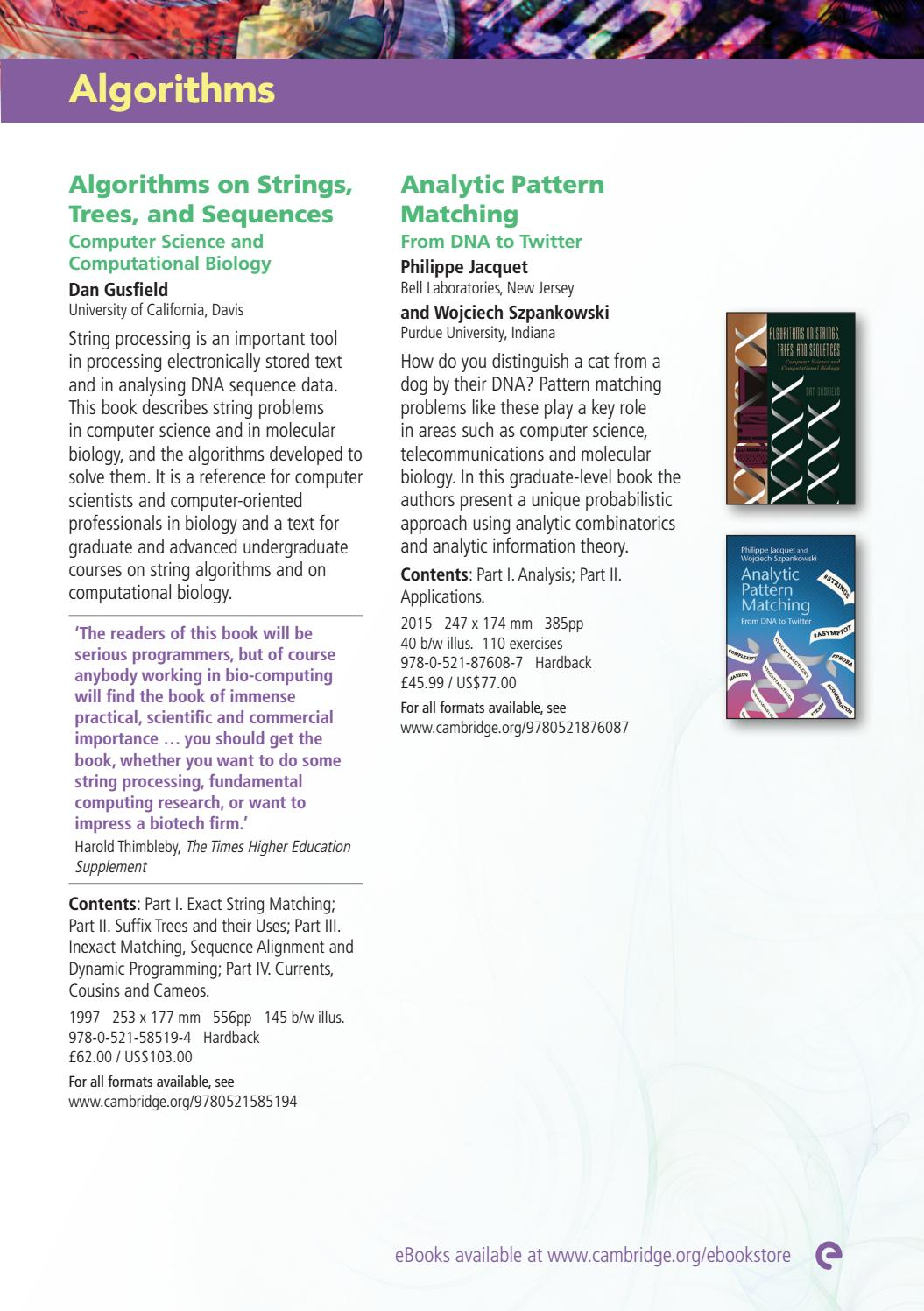 Computational systems biology 2017 by cambridge university press computational systems biology 2017 by cambridge university press issuu fandeluxe Choice Image