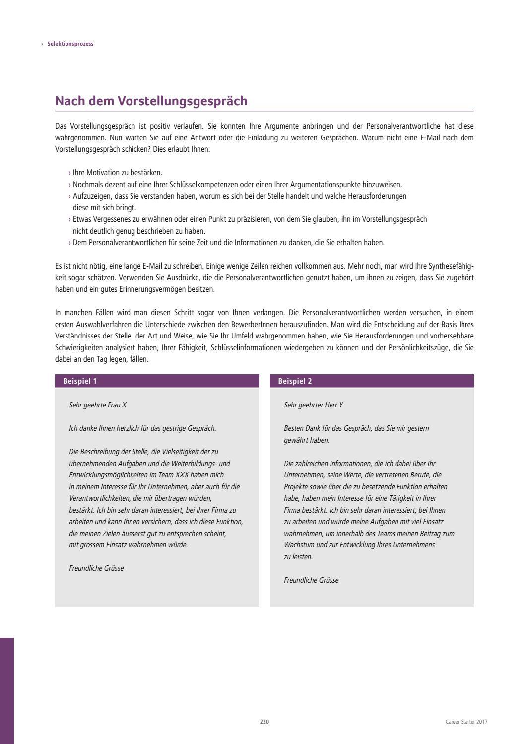 career starter nr 21 deutsche ausgabe 2017 by together ag issuu - Vorstellungsgesprach Beispiel