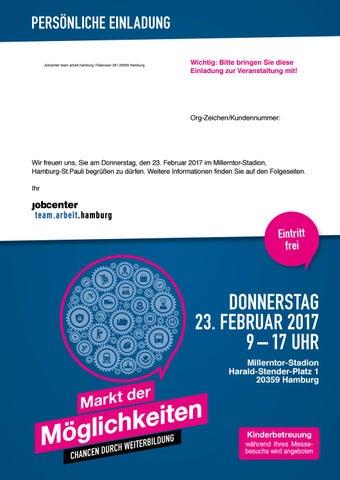 Einladungsbroschüre Jobcenter-Weiterbildungsmesse Markt der ...
