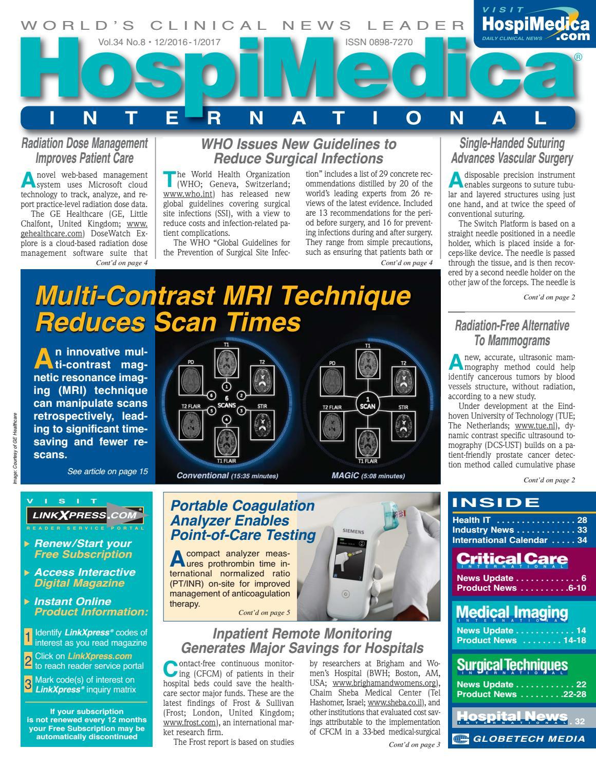 HospiMedica International January 2017 by Globetech - issuu