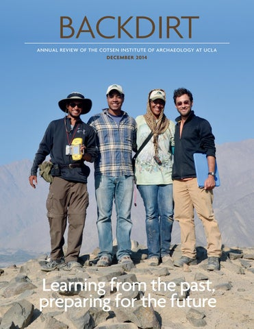 Backdirt 2014 By Cotsen Institute Of Archaeology Press Issuu