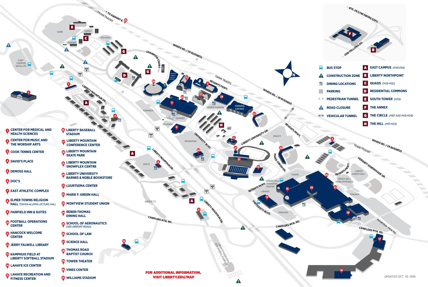 Liberty University Campus Map Liberty University Campus Map by Liberty University   issuu