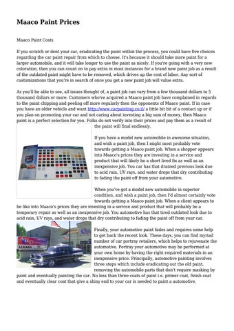 Car Paint Prices >> Maaco Paint Prices By Hulkinginsurance9816 Issuu