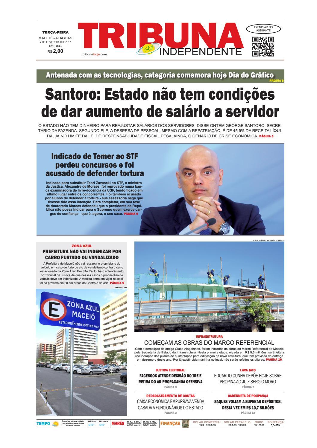 Edição número 2833 - 7 de fevereiro de 2017 by Tribuna Hoje - issuu 9d009b93c96eb
