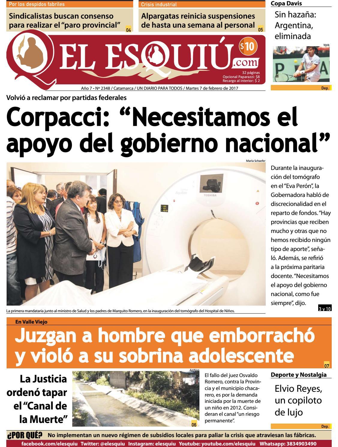 El Esquiu Com Martes 7 De Febrero De 2017 By Editorial El Esqui  # Ozuna Muebles Posadas