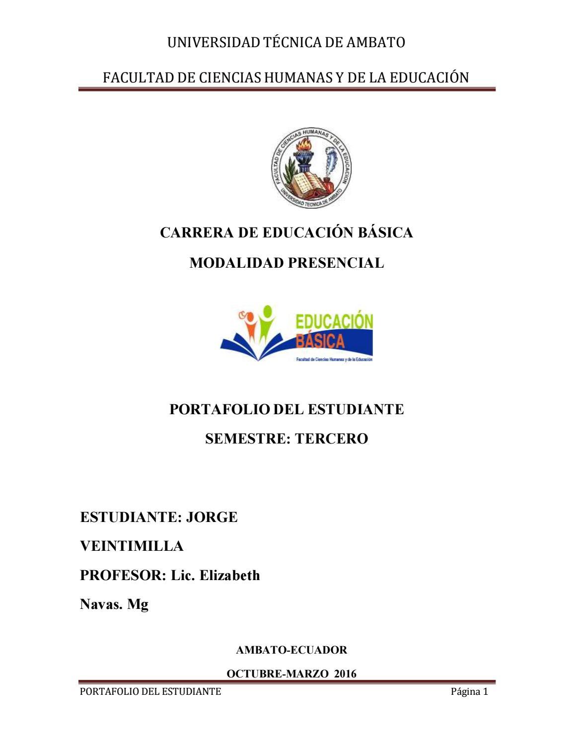 Veintimilla jorge portafolio planificacion curricular i by Jorge ...