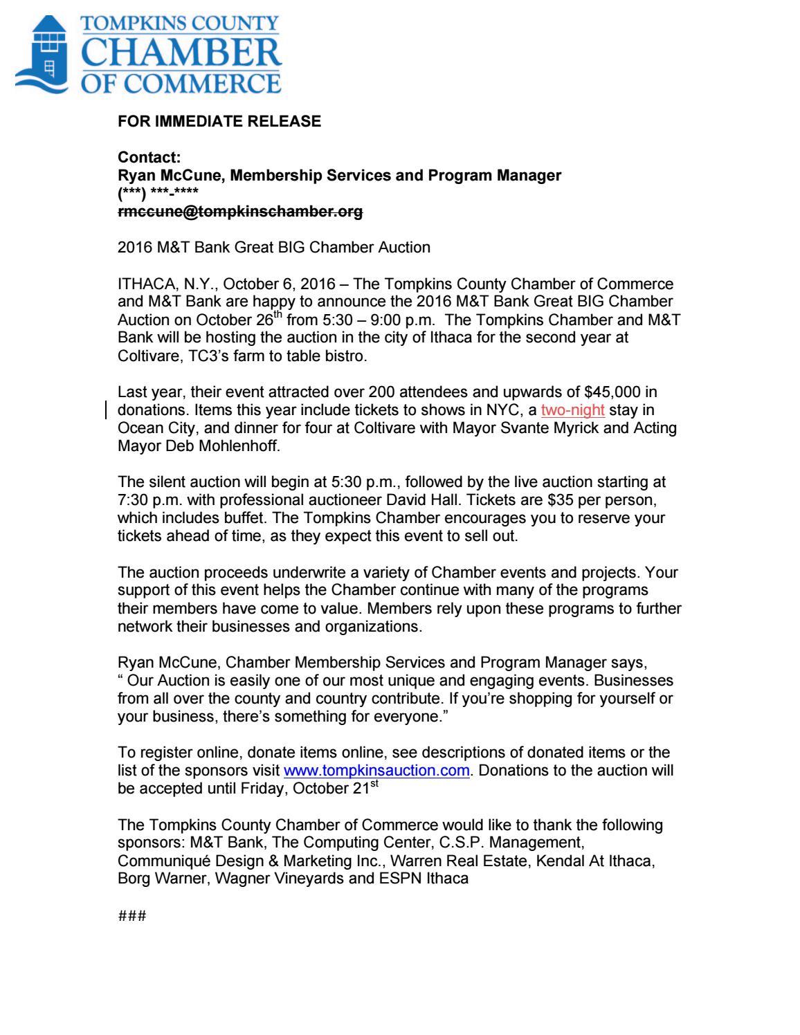 Auction Press Release