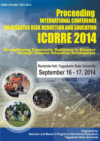 Proceeding International Conference On Disaster Risk Reduction And